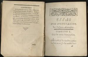 Valentin Haüy, Essai Sur L'Education des Enfans-Aveugles (sic.). Paris, 1786.